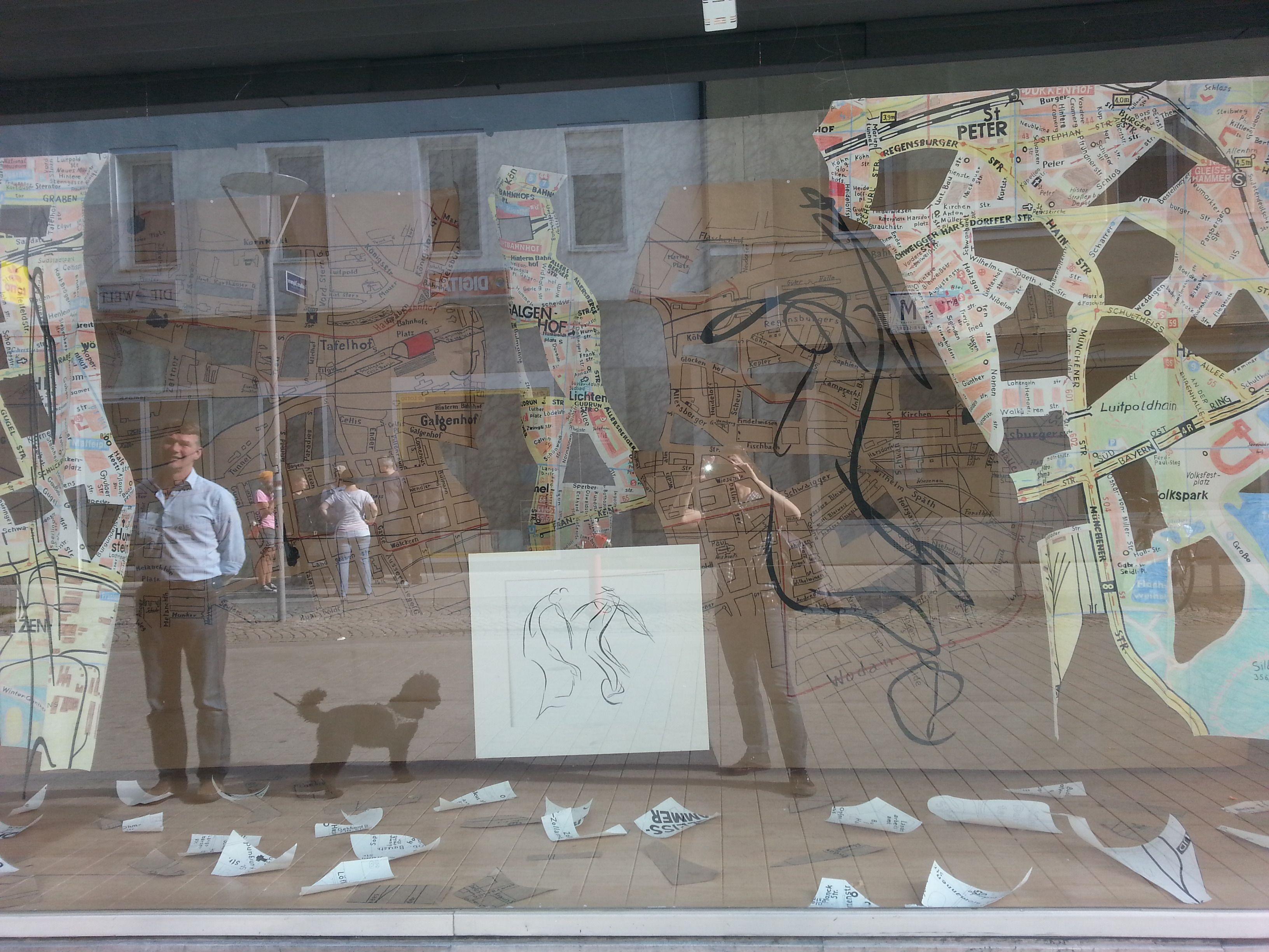 Kunst im Schaufenster am Aufseßplatz Nürnberg