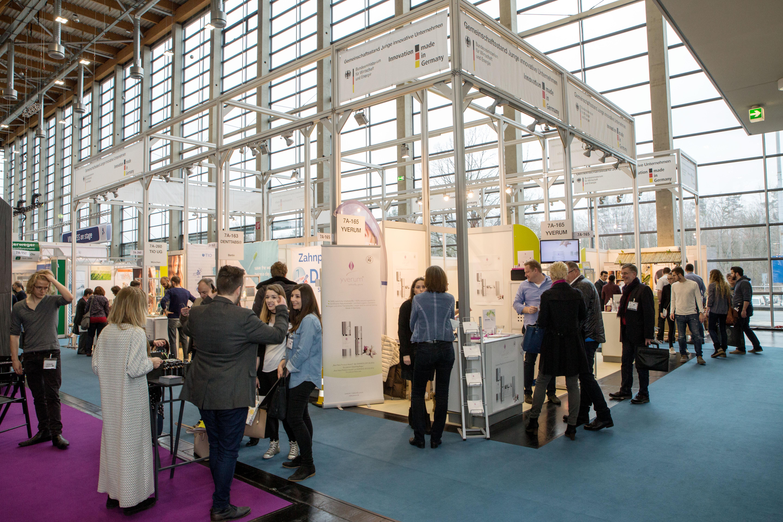 Gemeinschaftsstand junge innovative Unternehmen auf der VIVANESS 2017 der NürnbergMesse